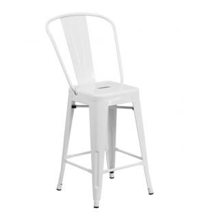 Lenon Highback Metal Chair 76cm Seat Height