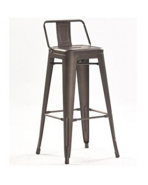 Tinteo Metal Chair 76cm Seat Height with Low Backrest