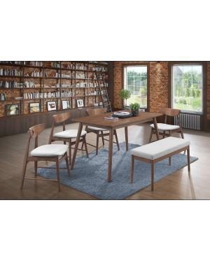 Doraz 1+6 Solid Rubber Wood Dining Set