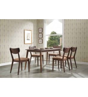 Aoto 1+6 Solid Rubber Wood Dining Set