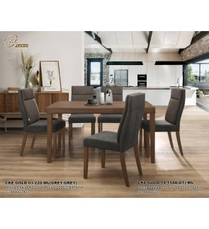 Hiltiq Dining Set 1+6 Solid Rubber Wood