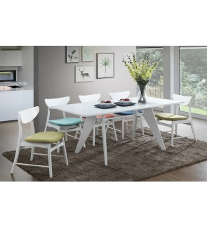 Printias Dining Set 1+8 Solid Rubber Wood