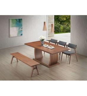 Lanquiz 1+8 Solid Rubber Wood Dining Set