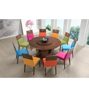 Dianix 1+8 Solid Rubber Wood Dining Set
