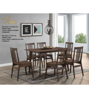 Hintumm Solid Rubber Wood 1+6 Dining Set