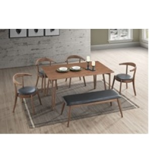 Intumn 1+6 1+6 Solid Rubber Wood Dining Set