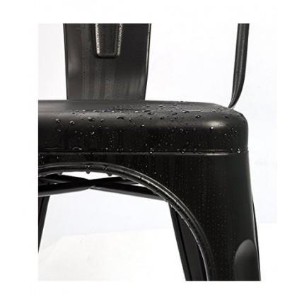 E HOME FURNITURE (Set of 4 Unit) Tolix Metal Chair / Rome Metal Dining Chair / Cafe Metal Chair