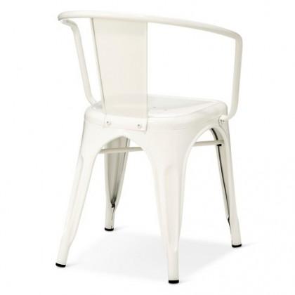 E HOME FURNITURE (Set of 4 Unit) Tolix Metal Arm Chair / Rome Metal Dining Chair / Cafe Metal Chair/ Arm Chair