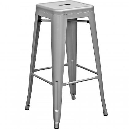 E HOME FURNITURE (Set of 4 unit) Tolix Bar Stool / High Metal Bar Stool/ Rome Metal High Bar Stool