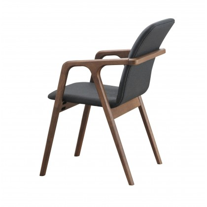 E HOME FURNITURE (Set of 2 unit) Stylish Dining Arm Chair / Wooden Arm Chair